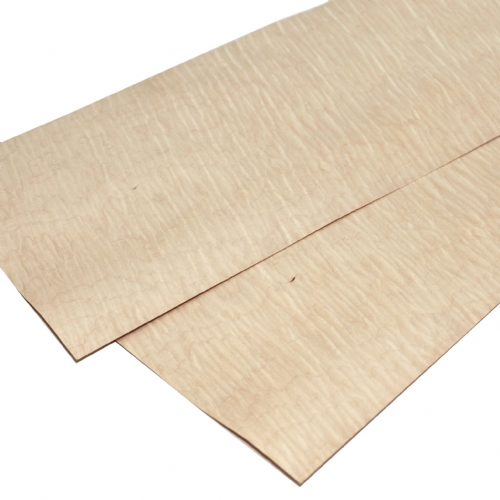 "Figured Maple. Set of 2 sheets: 22"" x 8"" ( 56 x 20 cm )"